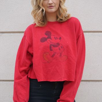 Red Mickey Sweatshirt