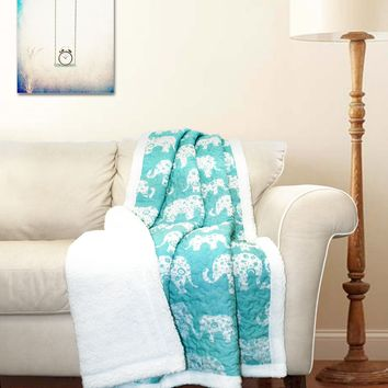 Elephant Parade Sherpa Throw by Lush Decor - Throws at Hayneedle