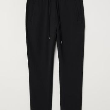 Pull-on Pants - Dark blue/white dotted - Ladies | H&M US
