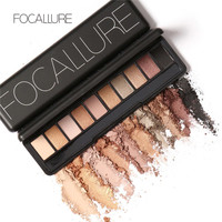 Professional Eyes Makeup Pigment Eyeshadow 10 Colors Shimmer Glitter Eye Shadow Palette Beauty Brand by Focallure