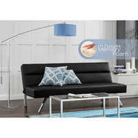 Walmart: Kebo Deluxe Futon with Memory Foam, Black