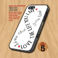 Love Life Infinity  - Design on Hard Case For iPhone 5 Case