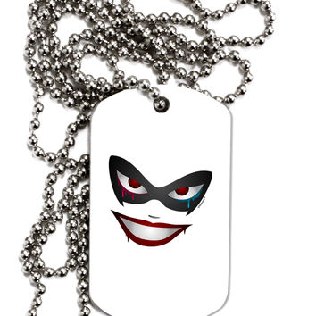Lil Monster Mask Adult Dog Tag Chain Necklace