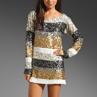Antik Batik Trocadero Shirt Dress in Silver/Gold from REVOLVEclothing.com