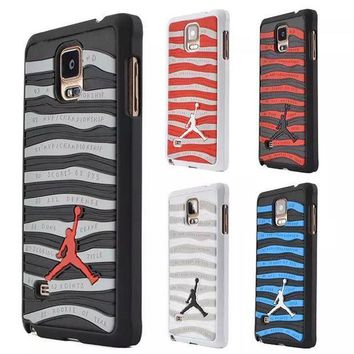 PEAP78W New Arrival 3D Air Jordan Sports Shoe Sole PVC Rubber Stripe Case for Samsung Galaxy NOTE4 Jumpman Phone Back Cover For N9100