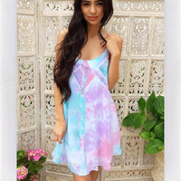 IMAGINE WAVES DRESS- TIE DYE PASTEL