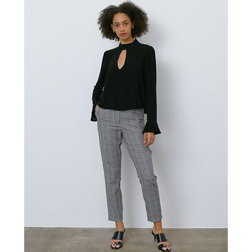 Amberly Plaid Trousers - Black/Red/white