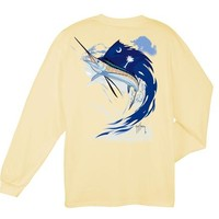 Palmetto Moon | EXCLUSIVE Guy Harvey Crescent Moon Long Sleeve T-Shirt