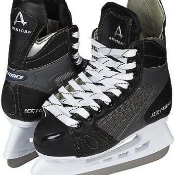American Athletic Ice Force Boys or Mens Hockey Skates - 8, 9, 10, 11, 12, 13