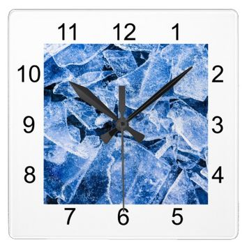 Ice Square Wall Clock