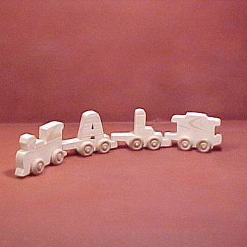 wooden train letters unfinished 2