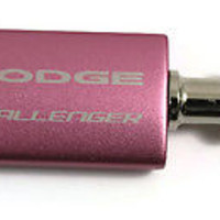 Dodge Challenger Pink Valet Key Chain Authentic Logo Key Chain Key Ring Key Tag