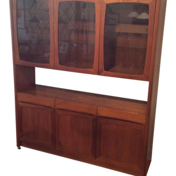 Danish Modern Teak Hutch by Nordic Furniture Inc.