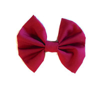 Marsala Hair Bow - Pantone Color of the Year