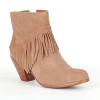 Gianni Bini Fay Fringe Booties | Dillards