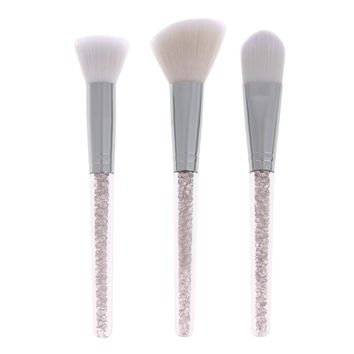 2017 3pcs Crystal makeup brush set for women foundation brush Blush make up brush tools brush set makeup rhinestone pencil