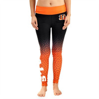 Cincinnati Bengals Women's Official NFL Gradient Print Leggings