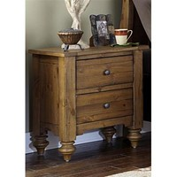 Liberty Furniture Southern Pines Night Stand in Vintage Light Pine Finish