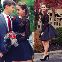 Long Sleeve Homecoming Dress for Homecoming