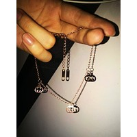 GUCCI Fashion New Letter Chain Personality Bracelet Accessories