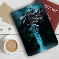 The Lich King Leather Passport Wallet Case Cover