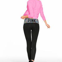 Foldover Yoga Legging - PINK - Victoria's Secret