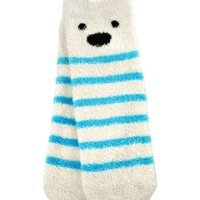 Shea-Infused Lounge Socks Polar Bear