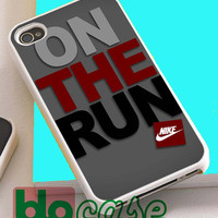 Nike On The Run For Iphone 4/4s, iPhone 5/5s, iPhone 5C, iphone 6, and iPhone 6 Plus Case