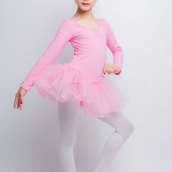 Child Pink Professional Ballet Gymnastics Leotard Tutu Dress Dance Dancer Costumes for Girls Ballerina Clothes Dancing Clothing