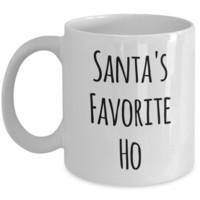 Santa's Favorite Ho Ho Ho Coffee Mug Funny Christmas Coffee Mugs Funny Christmas Gag Gifts Funny Santa Mug Stocking Stuffer
