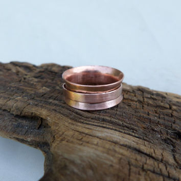 Spinner Thumb Ring, Copper Spinner Thumb Ring