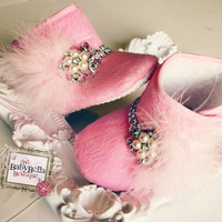 Pink Glam Diva baby crib boot . Baby Girl por TheBabyBellaBoutique
