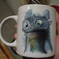 toothless how to train your dragon white mug two side