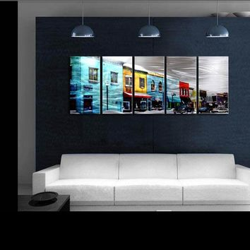 Art Abstract Special   Citiscape / Town Painting Sculpture Original Modern Metal Wall Indoor Outdoor Decor