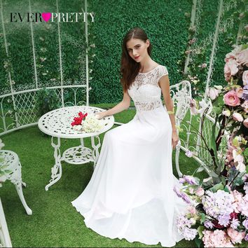 ff7733385c Fairy Long Chiffon Lace Prom Dress Cap Sleeves Two Pieces Ever P