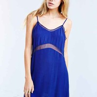 Silence + Noise Sheer-Inset Slip Dress-