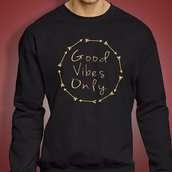 Good Vibes Only Yoga Men'S Sweatshirt