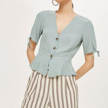 Button Down Tea Blouse | Topshop