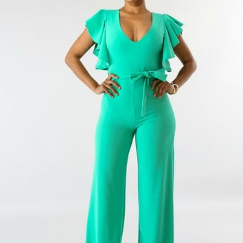 Avalon Butterfly Ruffle Jumpsuit