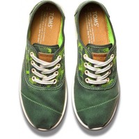 Green Animal Camo Youth Cordones