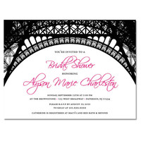 Paris Theme Custom Invitations | Luulla