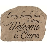 SheilaShrubs.com: Garden Stone Family Welcome 13030 by Carson Home Accents: Garden Stones
