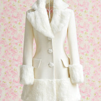 White Woolen Long Coat