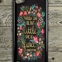 The Little Fierce On Charcoal iPod 5 Touch Case
