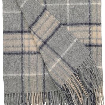 Rocky Mountain Plaid Throw in Ash