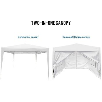 Big Sale!!Quictent privacy 10x10 Mesh Curtain EZ Pop Up Party Tent Canopy Gazebo 100% Waterproof-7 Colors (White)