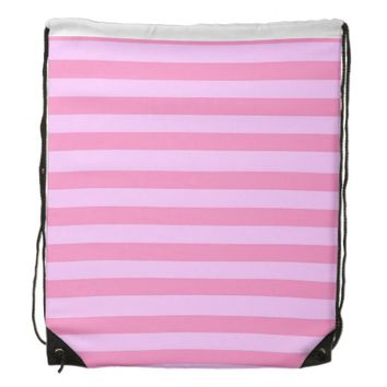 pretty pastel stripes drawstring backpack