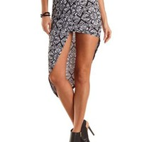 Asymmetrical High-Low Tulip Skirt by Charlotte Russe