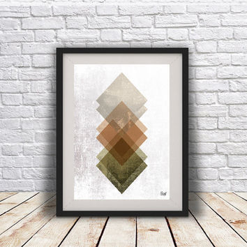 INSTANT DOWNLOAD Abstract art Triangles Poster Geometric art poster Minimal Modern Scandinavian Nordic Style Abstract Digital poster print.