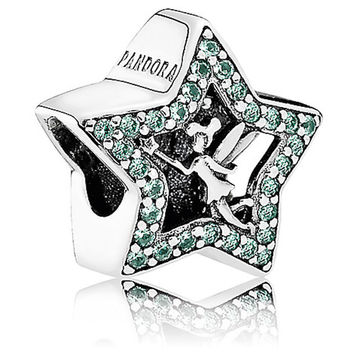 Disney Parks Tinker Bell Star Bracelet Charm By Pandora New With Pouch